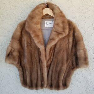 Brookover's Vintage Brown Mink Fur Cape / Stole